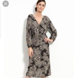 Anth Presley Skye Long Sleeve Silk Butterfly Dress